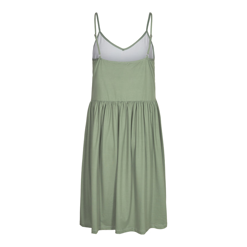 ALMA-FRILL-SLIP-DRESS - DUSTY ARMY