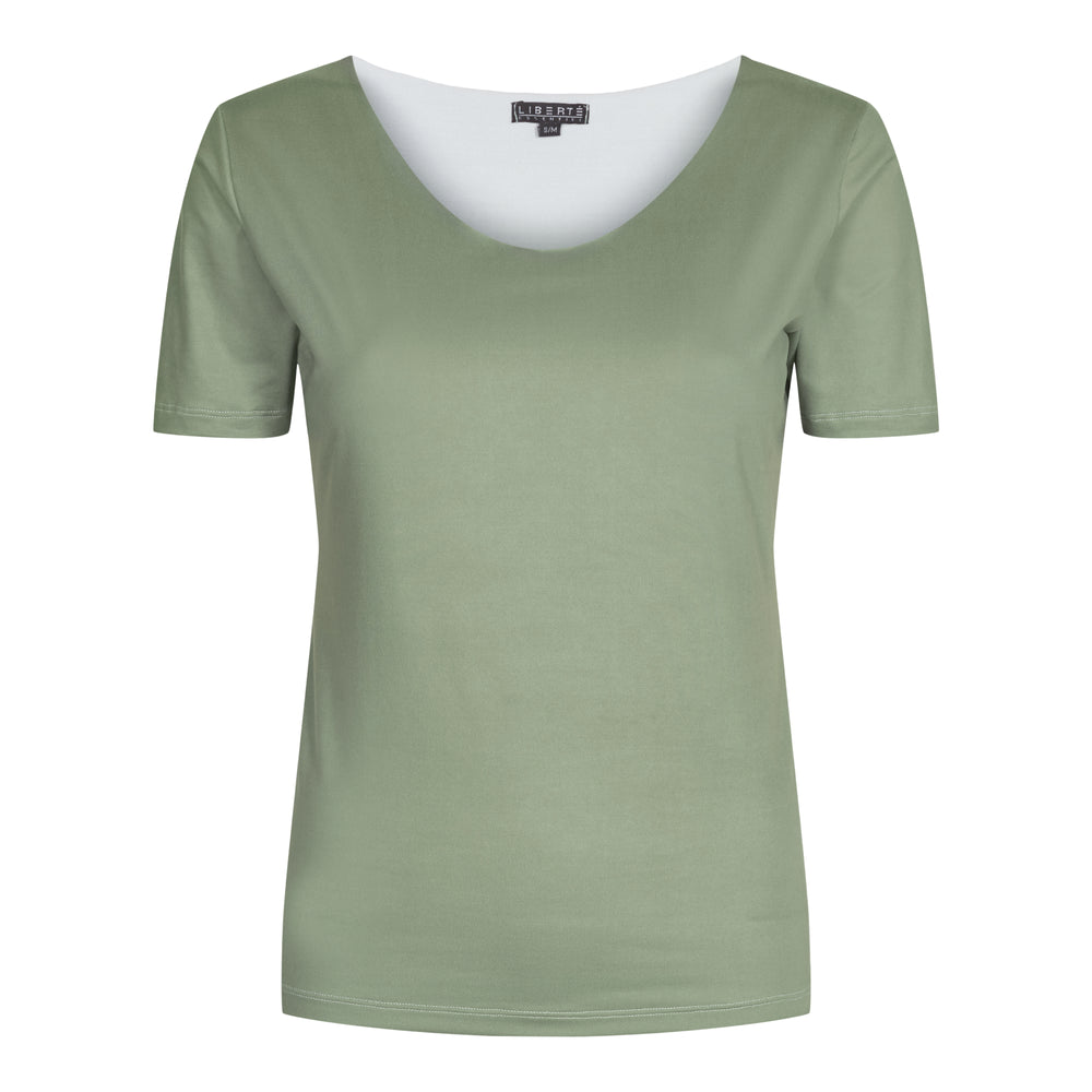 Load image into Gallery viewer, ALMA-SLIMFIT-T-SHIRT - DUSTY ARMY