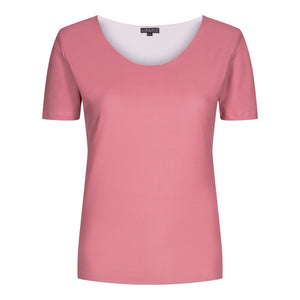 Load image into Gallery viewer, ALMA-SLIMFIT-T-SHIRT - DUSTY ROSE