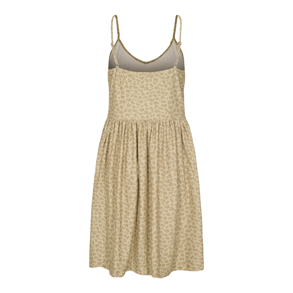 Load image into Gallery viewer, ALMA-FRILL-SLIP-DRESS - SAND LEO