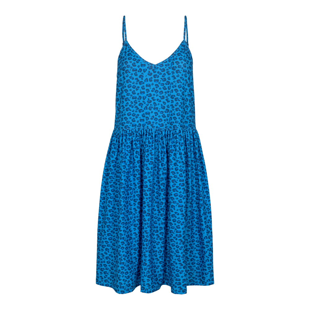 ALMA-FRILL-SLIP-DRESS - SKY BLUE LEO