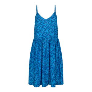 Load image into Gallery viewer, ALMA-FRILL-SLIP-DRESS - SKY BLUE LEO