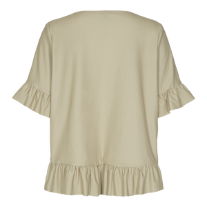 Load image into Gallery viewer, ALMA-FRILL-T-SHIRT - SAND