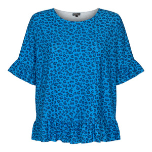 Load image into Gallery viewer, ALMA-FRILL-T-SHIRT - SKY BLUE LEO
