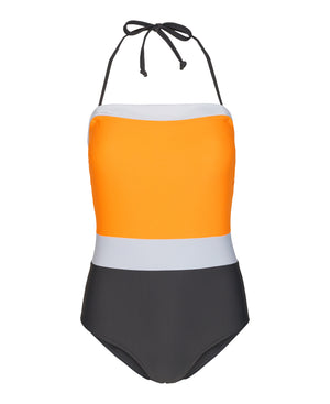 Load image into Gallery viewer, CALIFORNIA-SWIMSUIT - CONCRETE/MANGO