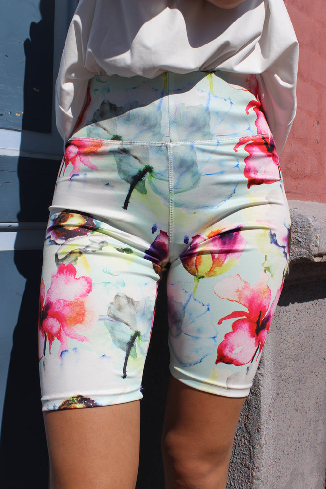 Load image into Gallery viewer, NICOLE-SHORTS - MINT FLOWER