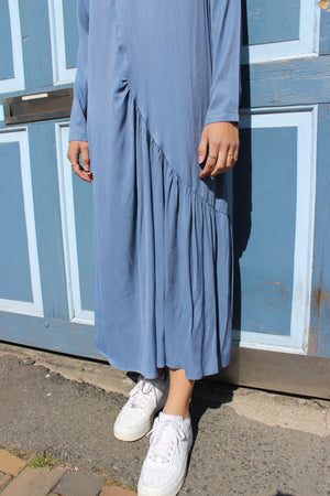 Load image into Gallery viewer, RINA-DRESS - DUSTY-BLUE