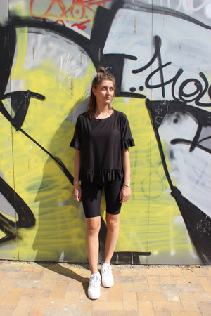Load image into Gallery viewer, ALMA-BICYCLE-SHORTS - BLACK
