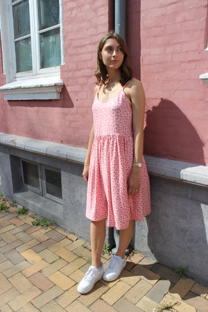Load image into Gallery viewer, ALMA-FRILL-SLIP-DRESS - ROSE LEO