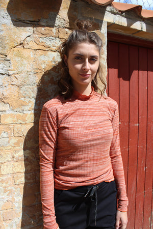 Load image into Gallery viewer, NATALIA-LS-BLOUSE - RUST MEL