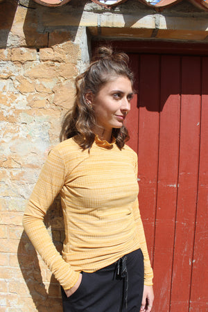 Load image into Gallery viewer, NATALIA-LS-BLOUSE - MUSTARD MEL