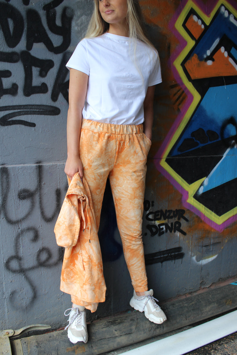 MELISSA-PANTS - ORANGE TIE DYE