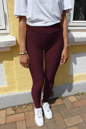 Load image into Gallery viewer, NAIO-LEGGING - BURGUNDY