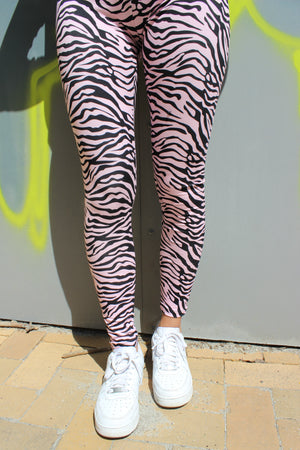 Load image into Gallery viewer, NINNI-LEGGING - ROSE ZEBRA