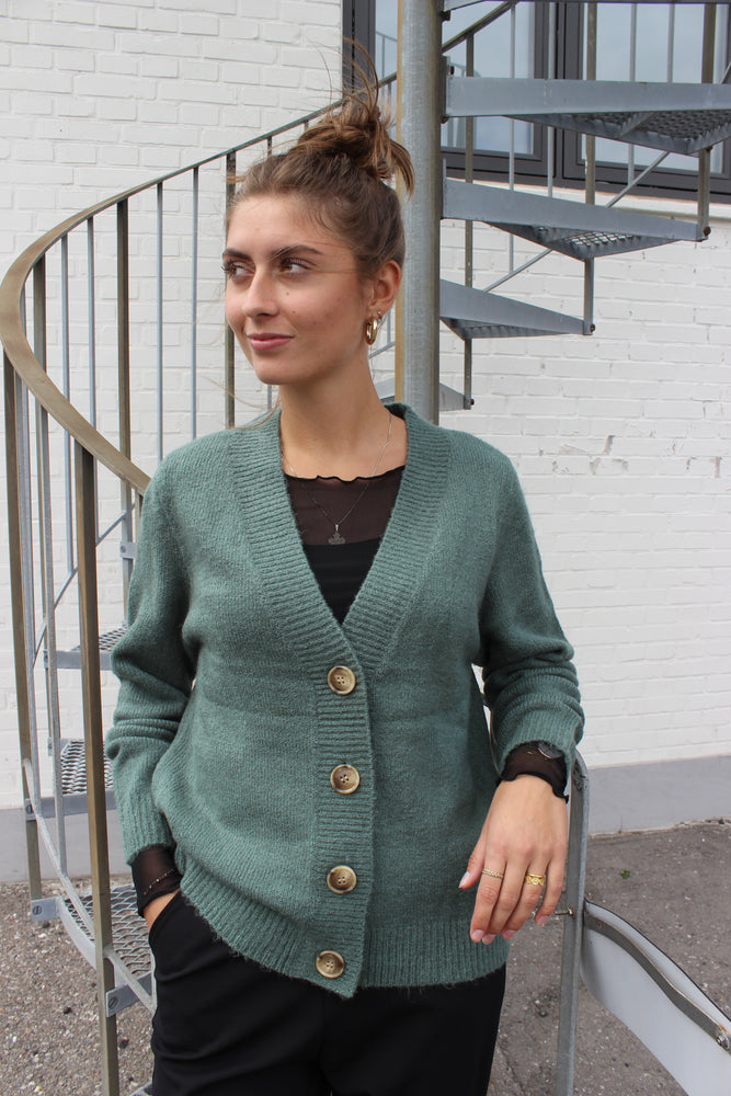 Load image into Gallery viewer, BIBI CARDIGAN - DARK GREEN