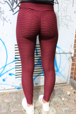 NAIO2-LEGGING - BURGUNDY