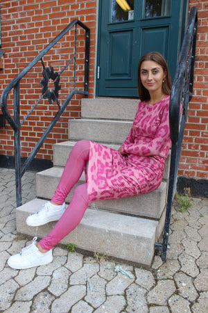 Load image into Gallery viewer, ALMA-LONG-DRESS - BIG LEO PINK