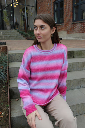 Load image into Gallery viewer, BILLI PULLOVER - LIGHTBLUE PINK STRIPE