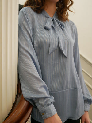 Load image into Gallery viewer, RUBINA SHIRT - DUSTY-BLUE