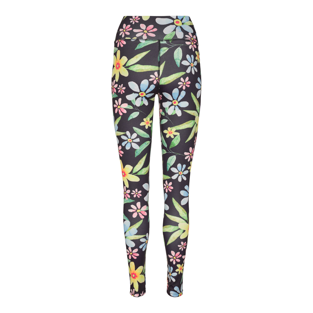 Load image into Gallery viewer, NICOLE-LEGGING - NAVY FLOWER