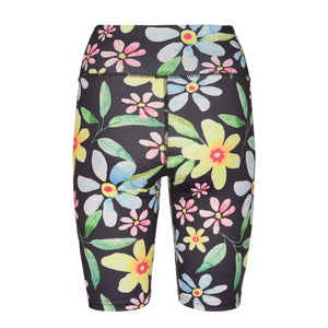 Load image into Gallery viewer, NICOLE-SHORTS - NAVY FLOWER