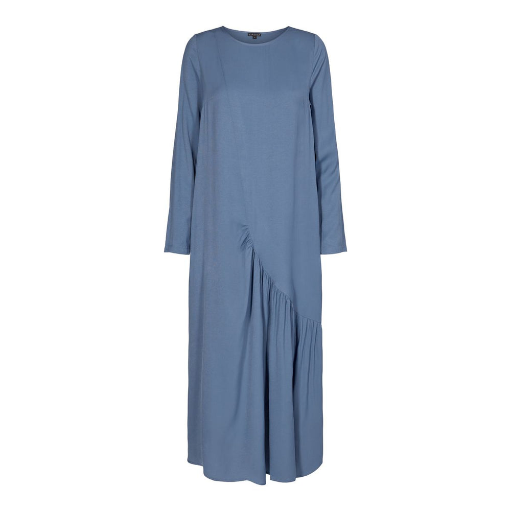 RINA-DRESS - DUSTY-BLUE