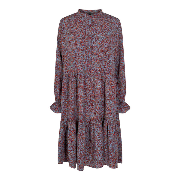 KARLA-DRESS - BURGUNDY
