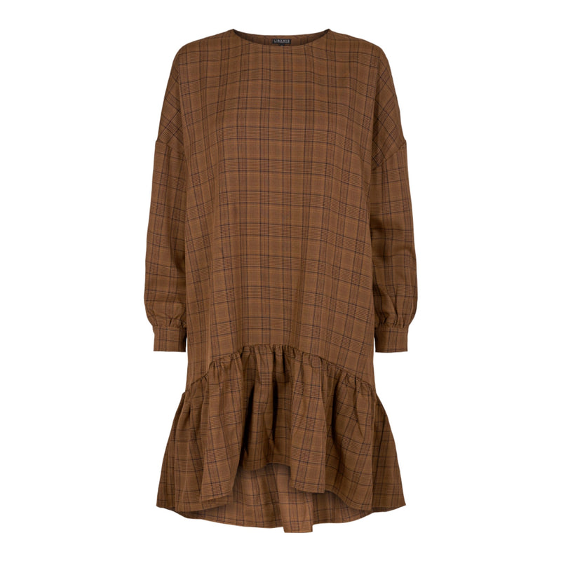 SONJA DRESS - BROWN/CHECK