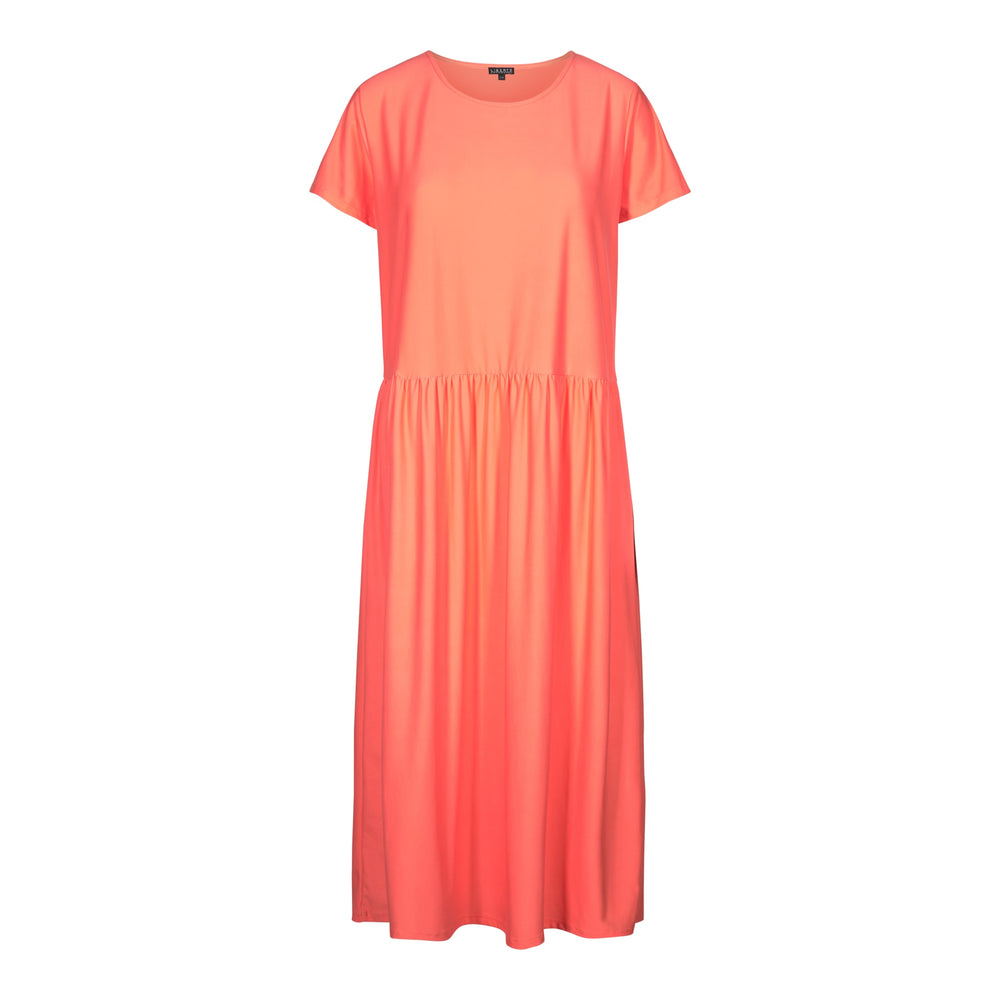ALMA-SHORT-DRESS - LIVING CORAL