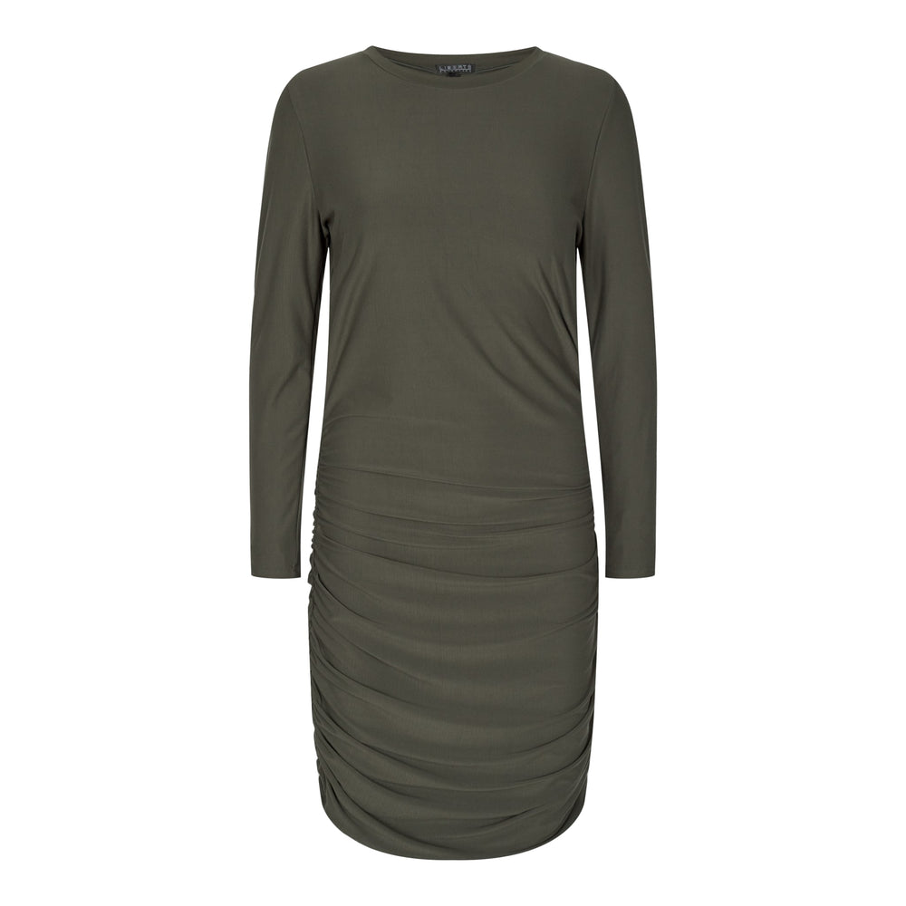 ALMA-LONG-DRESS - OLIVE