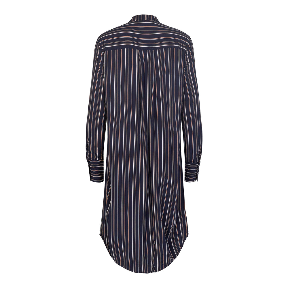 Load image into Gallery viewer, MONA-LONG-SHIRT - NAVY STRIPE