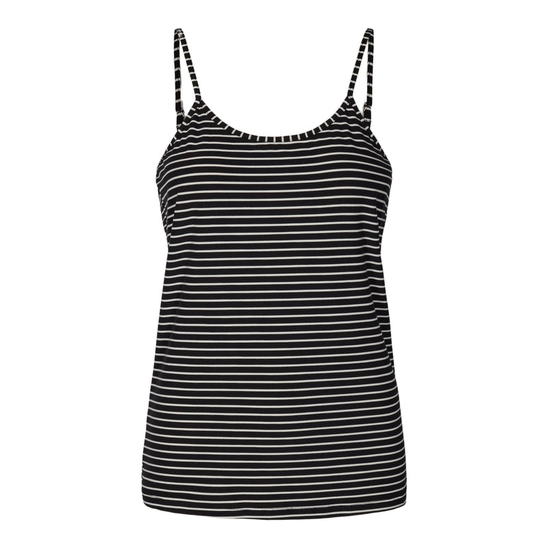ALMA-STRAP-TOP - BLACK/WHITE