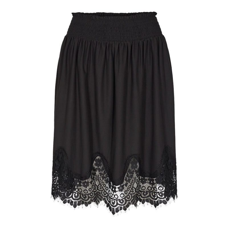 ALMA-LACE-SKIRT - BLACK