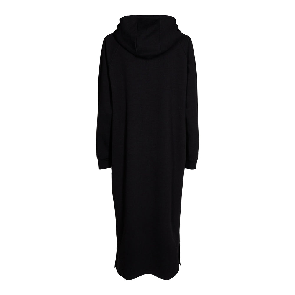 Load image into Gallery viewer, OLYMPIA-HOODIE-DRESS - BLACK