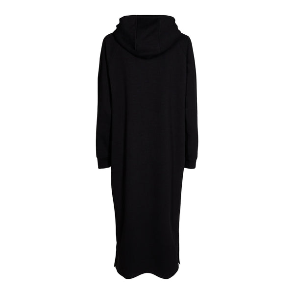 OLYMPIA-HOODIE-DRESS - BLACK
