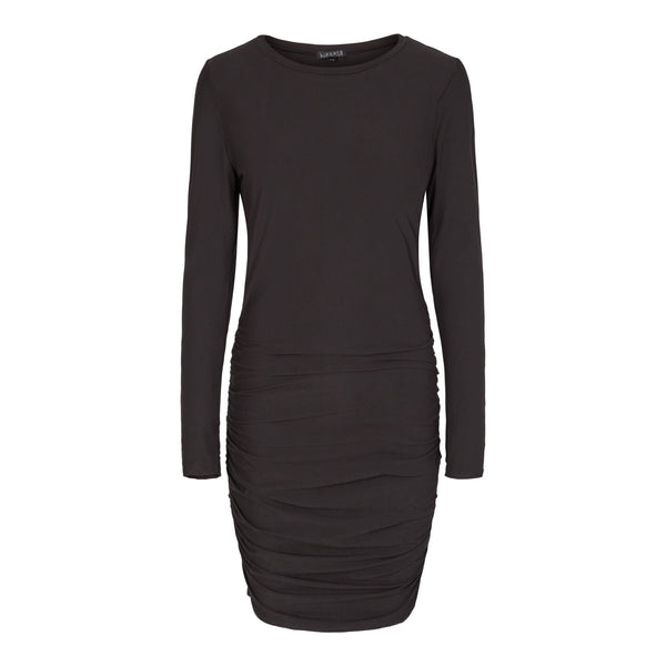 ALMA-LONG-DRESS - BLACK