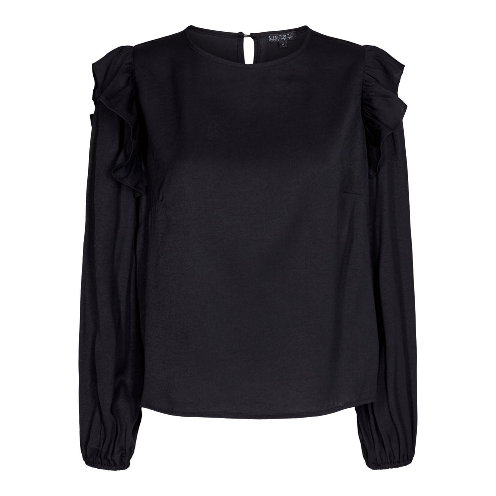 NORA-BLOUSE - BLACK