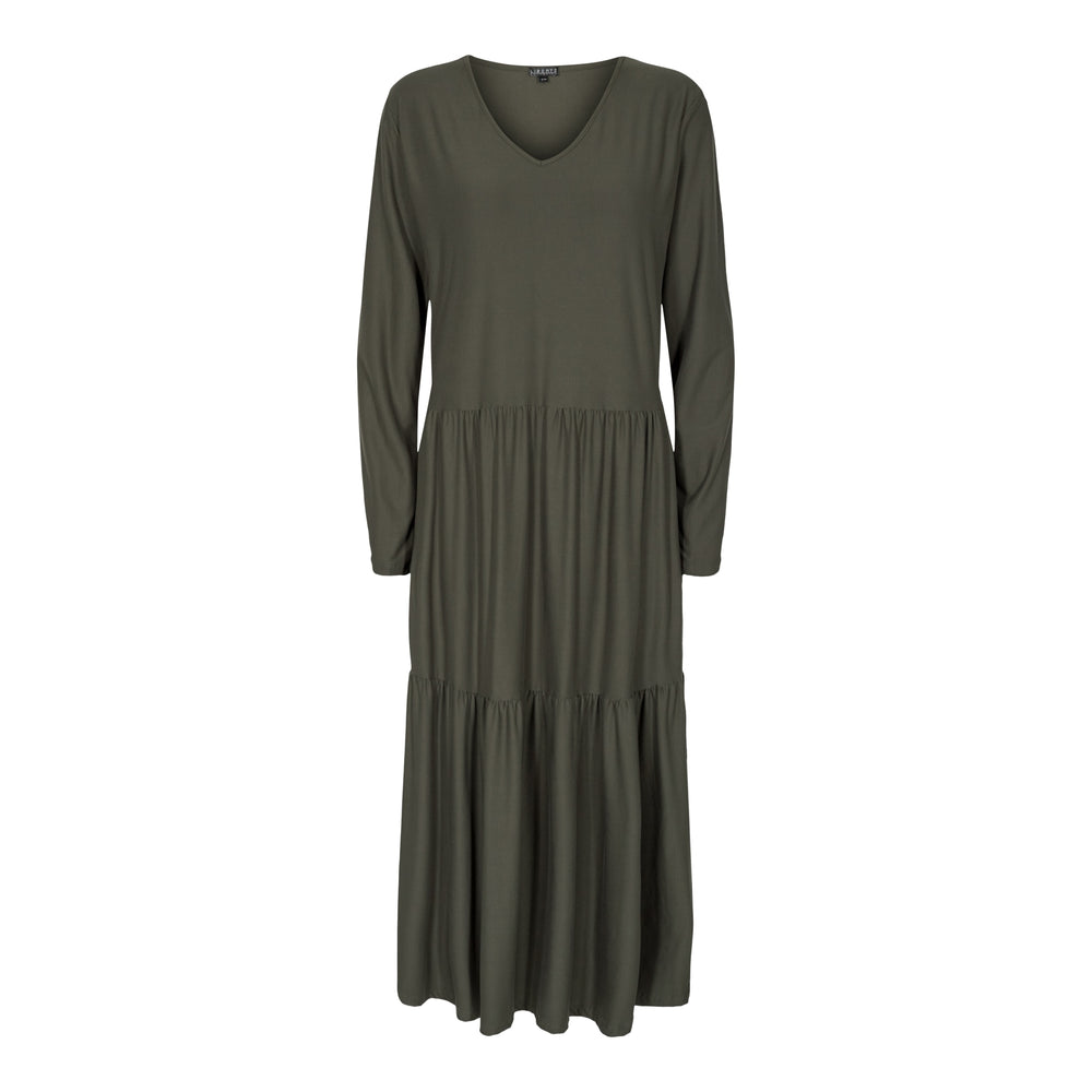 ALMA-LOOSE-DRESS - OLIVE