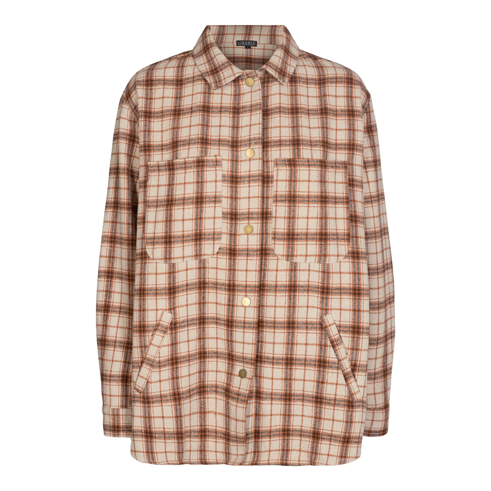 Load image into Gallery viewer, KAREN-SHIRT - BROWN/CHECK