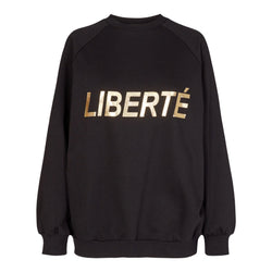 HEATHER-CREWNECK - BLACK