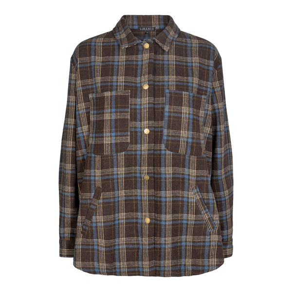 KAREN-SHIRT - NAVY/CHECK