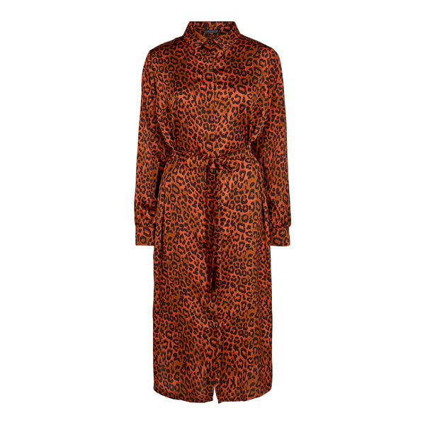 NIKOLINE-SHIRT-DRESS - RUST