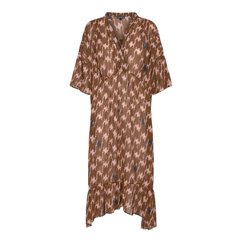 KAROLINE-DRESS - BROWN