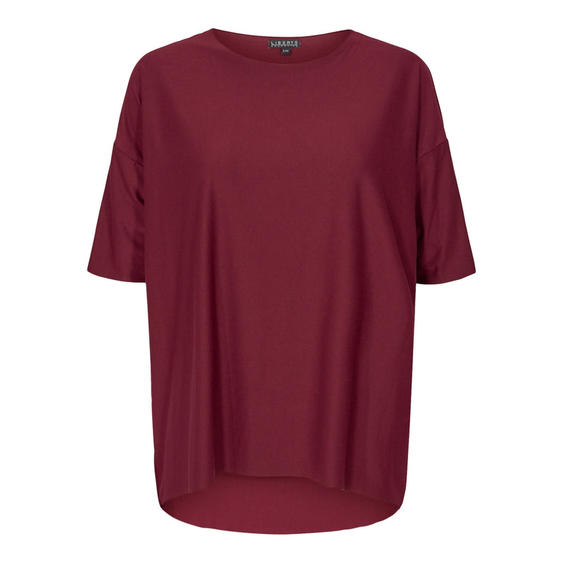 ALMA-T-SHIRT - BURGUNDY