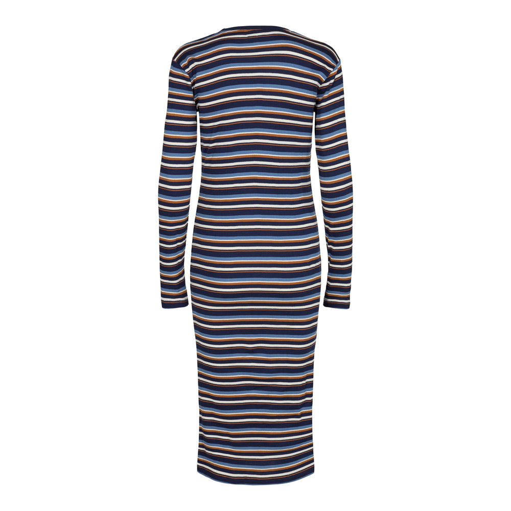 Load image into Gallery viewer, ROBERTA-DRESS - NAVY STRIPE