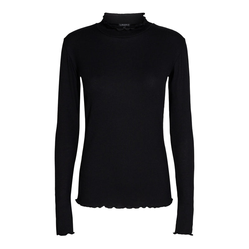 NATALIA-LS-BLOUSE - BLACK