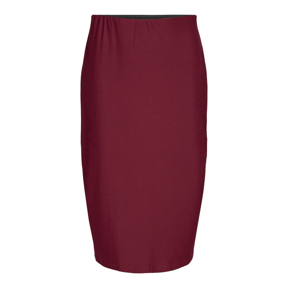 ALMA-PENCIL-SKIRT - BURGUNDY