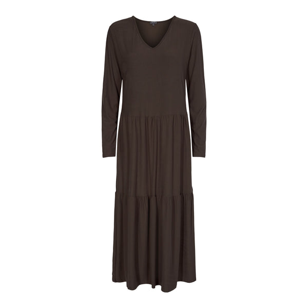 ALMA-LOOSE-DRESS - COFFEE BEAN