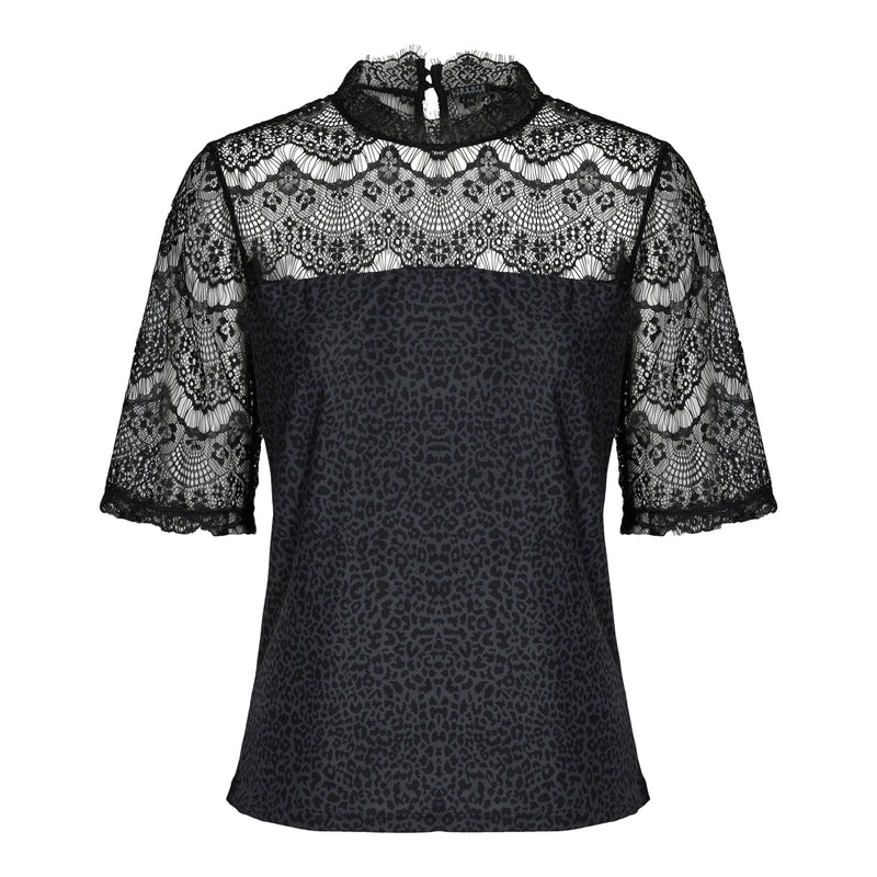 ALMA-LACE-BLOUSE - LEO/BLACK