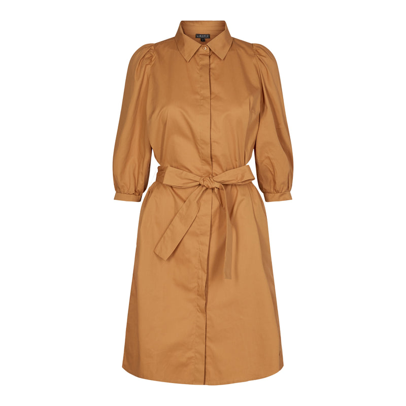 OANNA-SHIRT-DRESS - CARAMEL